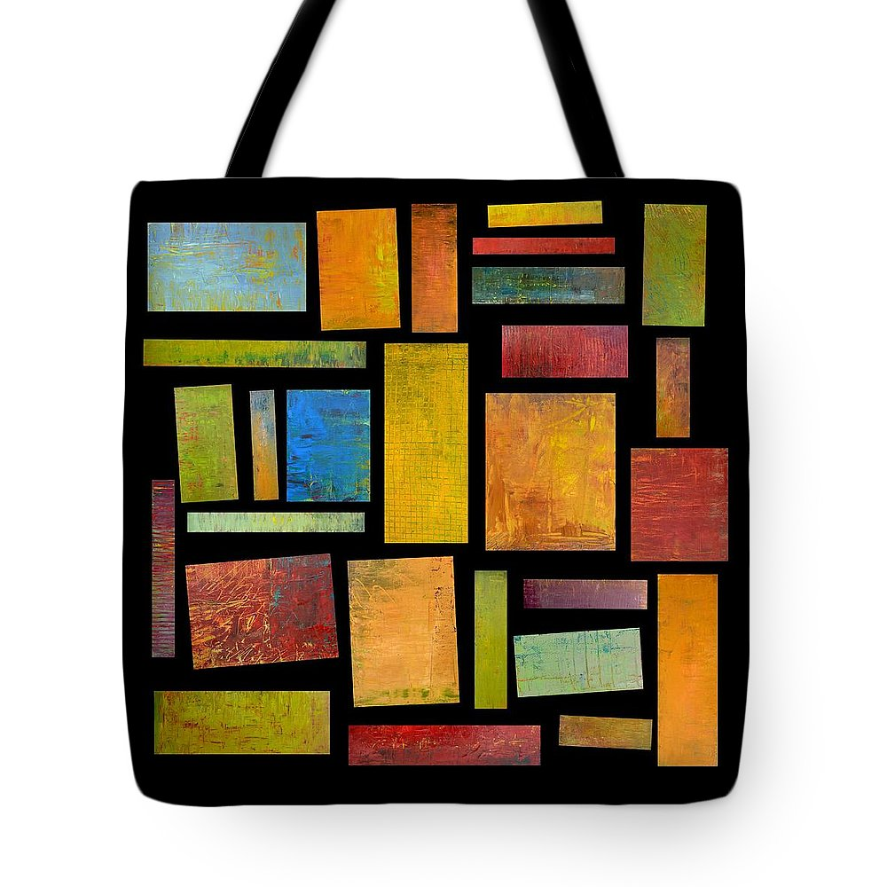Textural Tote Bag featuring the painting Building Blocks Four by Michelle Calkins