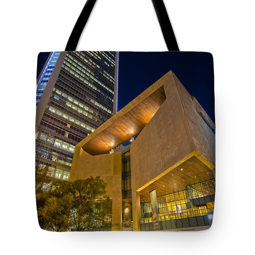 And Architecture Tote Bag featuring the photograph Buildings And Architecture Around Mint Museum In Charlotte North by Alex Grichenko