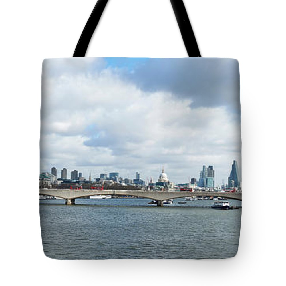 Photography Tote Bag featuring the photograph Buildings At The Waterfront, Thames by Panoramic Images