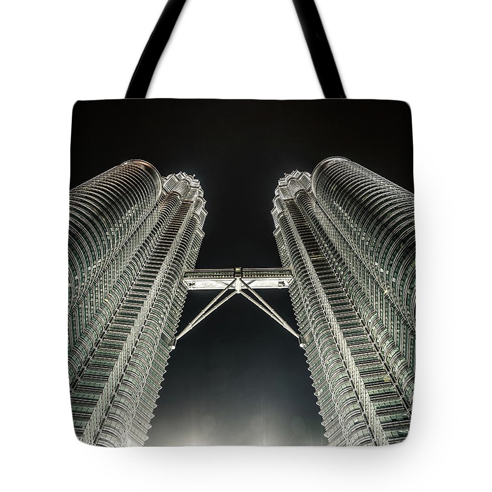 Viewpoint Tote Bag featuring the photograph Buildings Bridge by Twilightshow