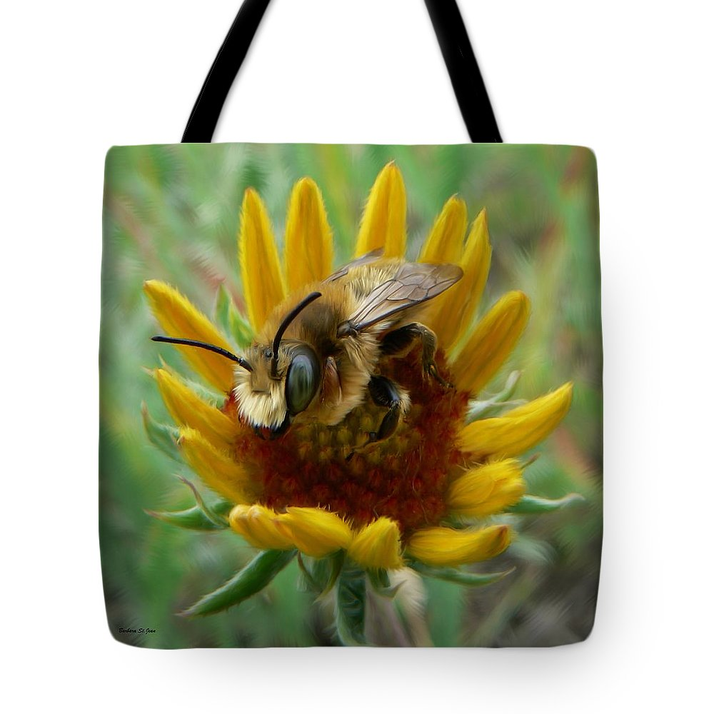 Bumble Bee Beauty Tote Bag featuring the photograph Bumble Bee Beauty by Barbara St Jean