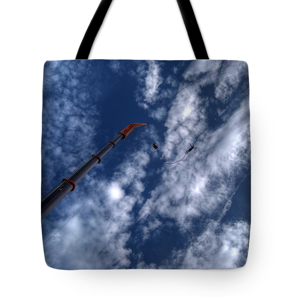 High Tote Bag featuring the photograph Bungee Jumper Hdr by Antony McAulay
