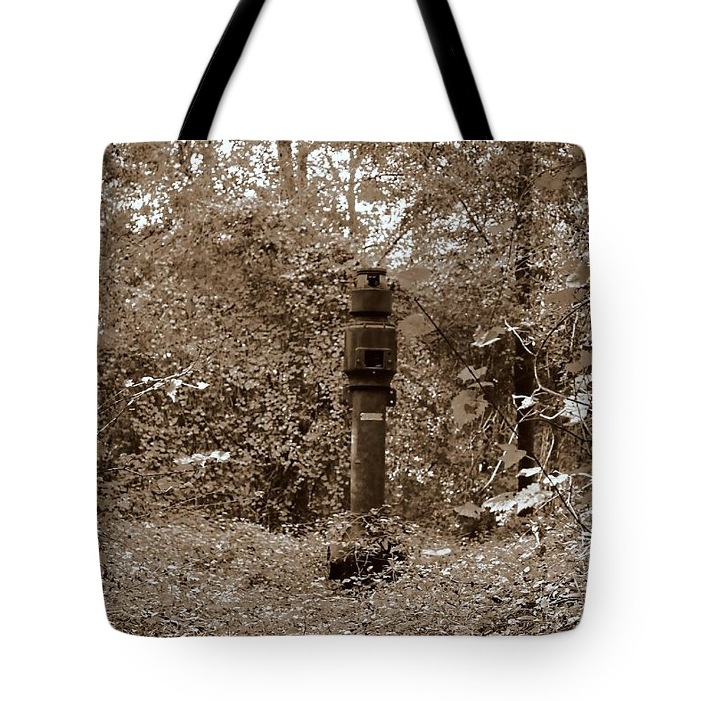 Amphibious Tote Bag featuring the photograph Bunker Airvent by Debra Forand