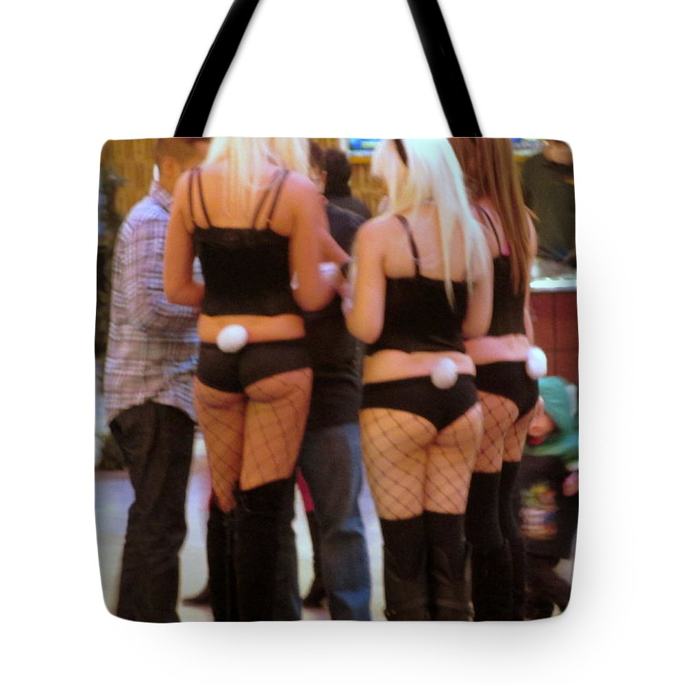Bunny Butts Tote Bag featuring the photograph Bunny Butts by Kay Novy