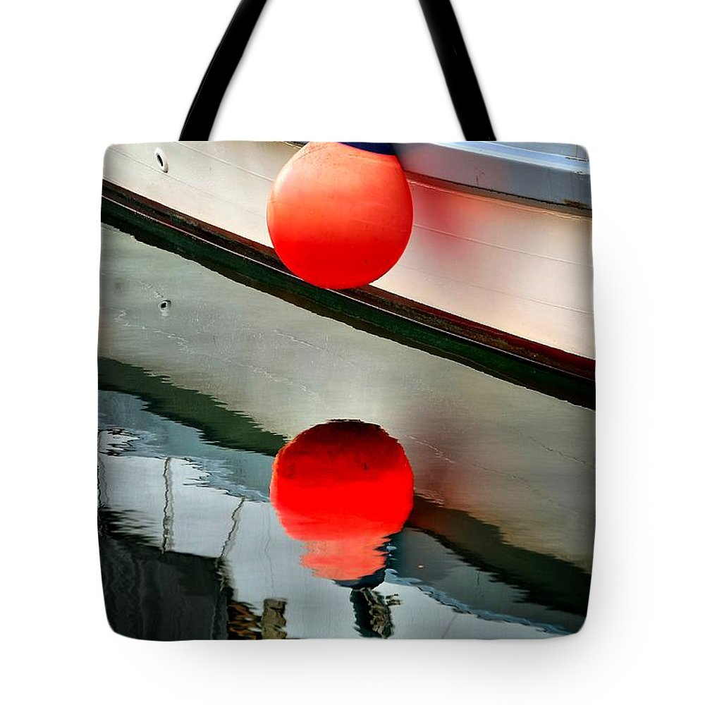 Abstract Tote Bag featuring the photograph Buoy by Lauren Leigh Hunter Fine Art Photography
