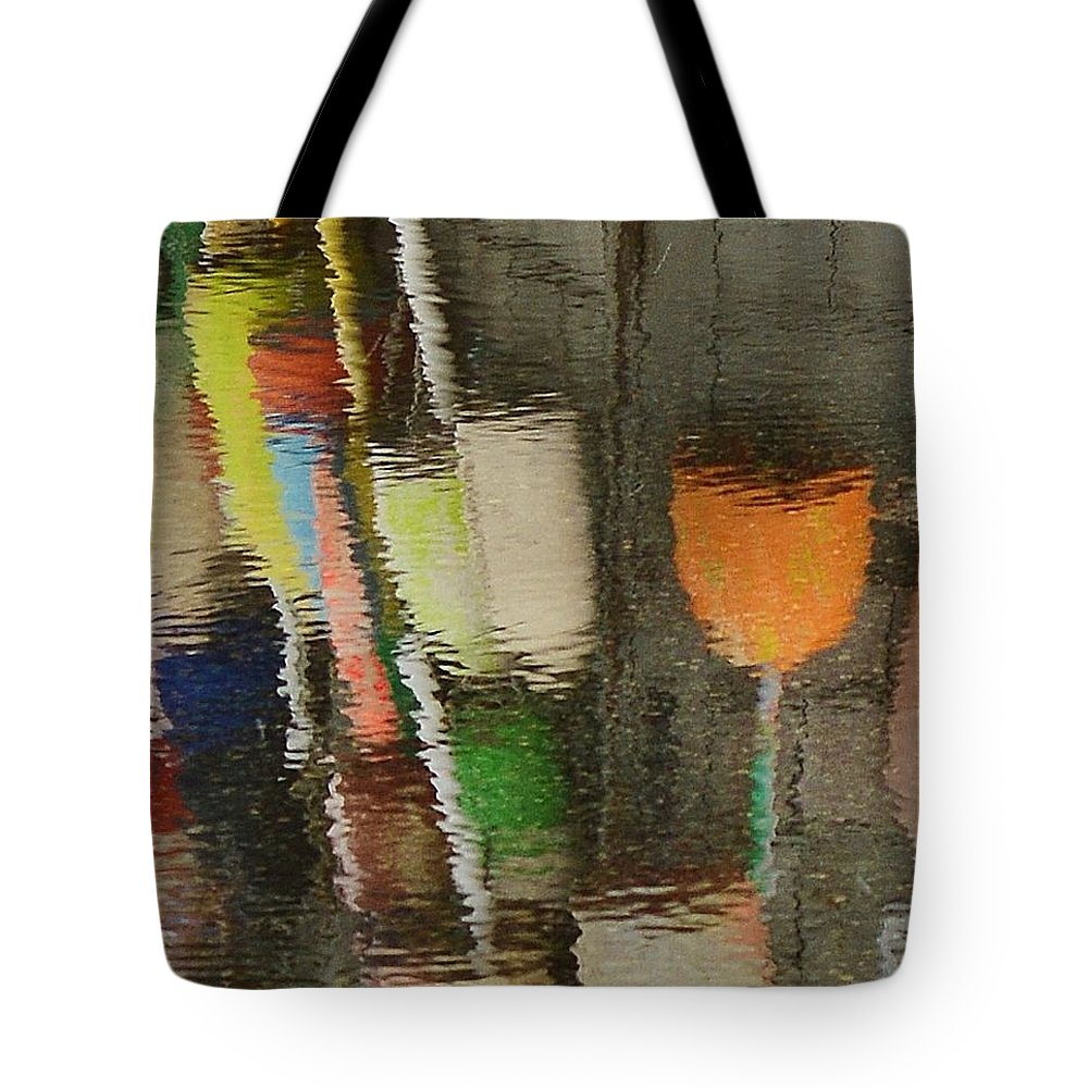 Buoys Tote Bag featuring the photograph Buoys by Lisa Kane
