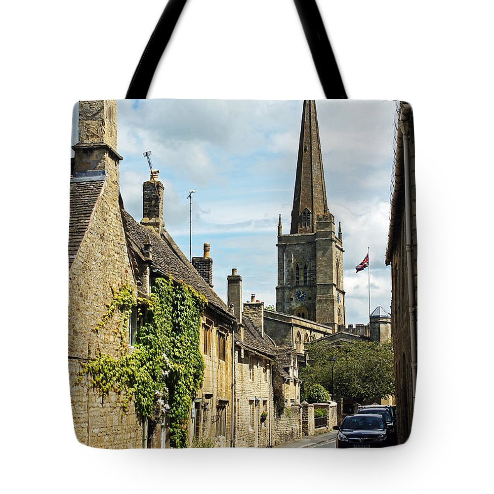 Burford Tote Bag featuring the photograph Burford Village Street by Tony Murtagh