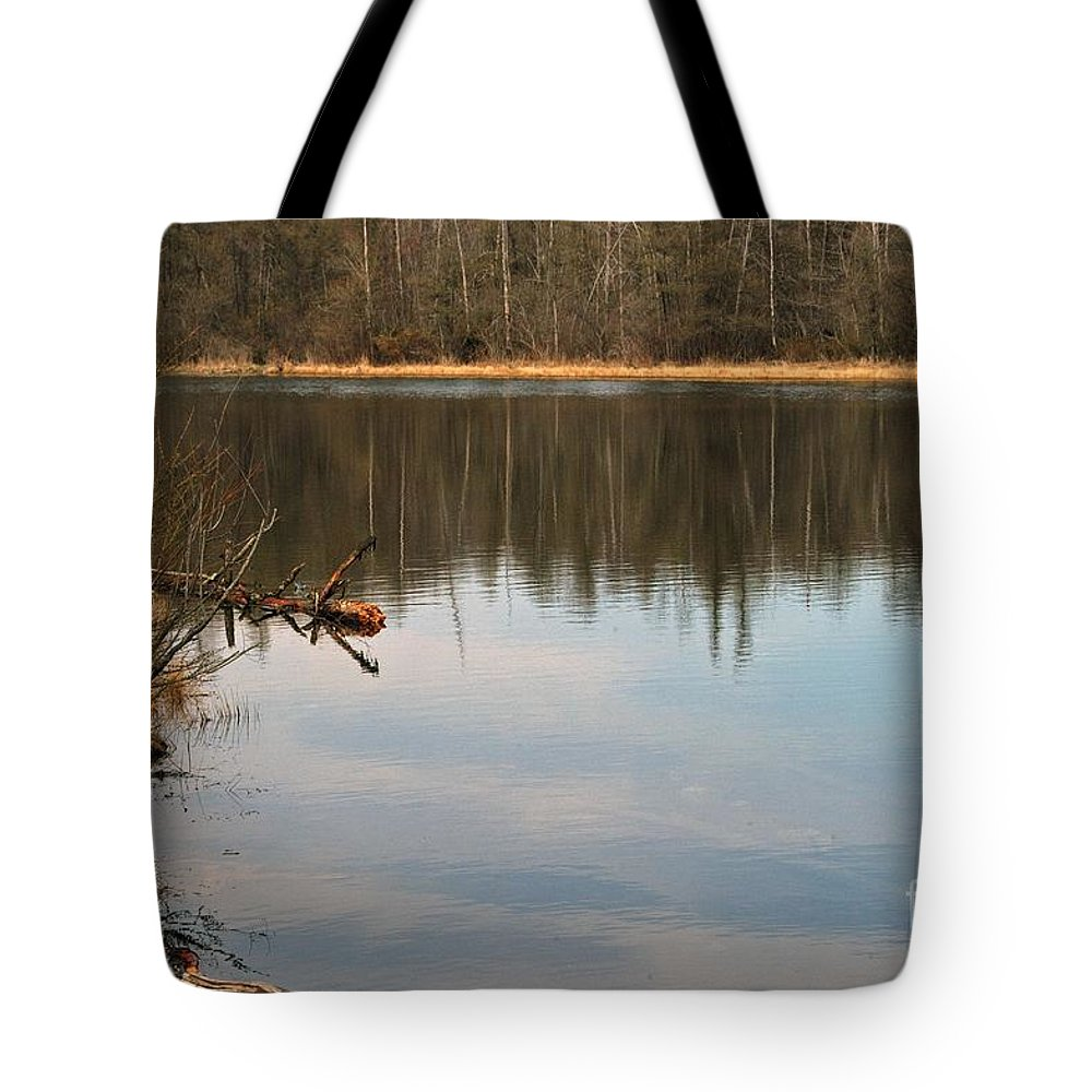 Lake Tote Bag featuring the photograph Burke Lake by Joseph Yarbrough