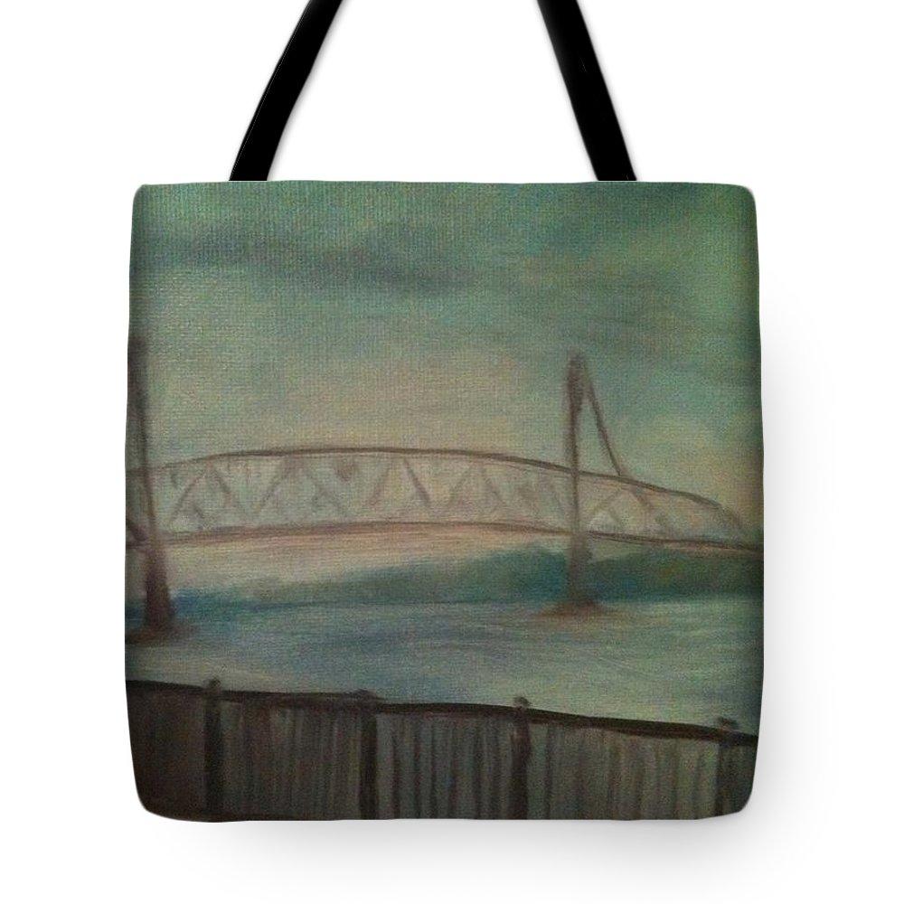 Bridge Tote Bag featuring the painting Burlington Bristol Bridge by Sheila Mashaw