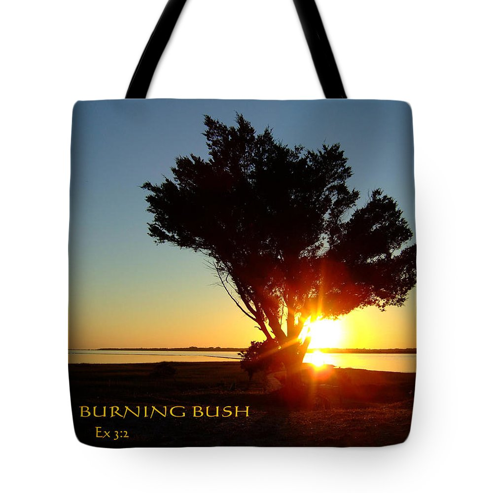 Blue Tote Bag featuring the photograph Burning Bush by Bob Sample