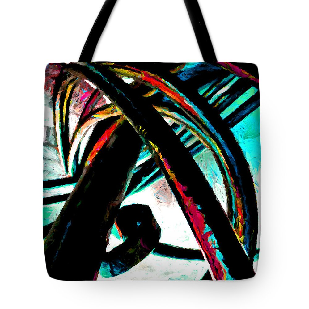 Curl Tote Bag featuring the digital art Burning Iron by Steve Taylor