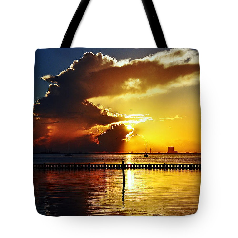 Gold Tote Bag featuring the photograph Bursting With Gold by Davids Digits