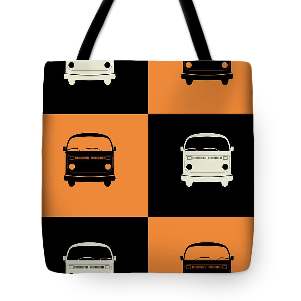 Quotes Tote Bag featuring the digital art Bus Poster by Naxart Studio