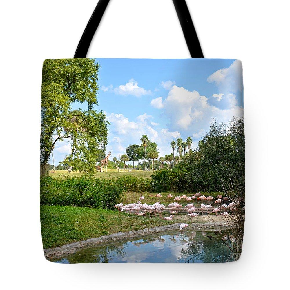 Busch Gardens Tote Bag featuring the photograph Busch Gardens Savannah by Carol Bradley