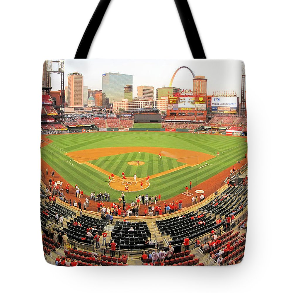 Busch Stadium Tote Bag featuring the photograph Busch Stadium by C H Apperson