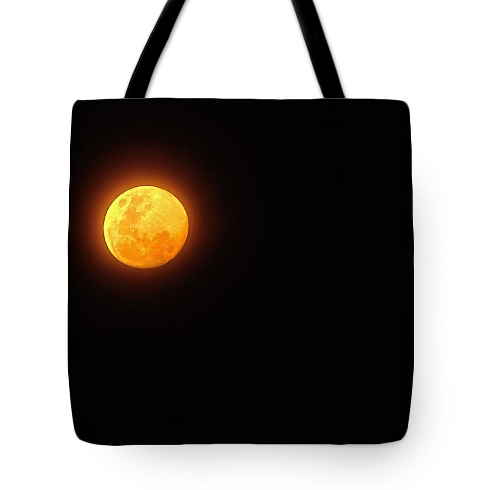 Photography Tote Bag featuring the photograph Bushfire Moon by Kaye Menner