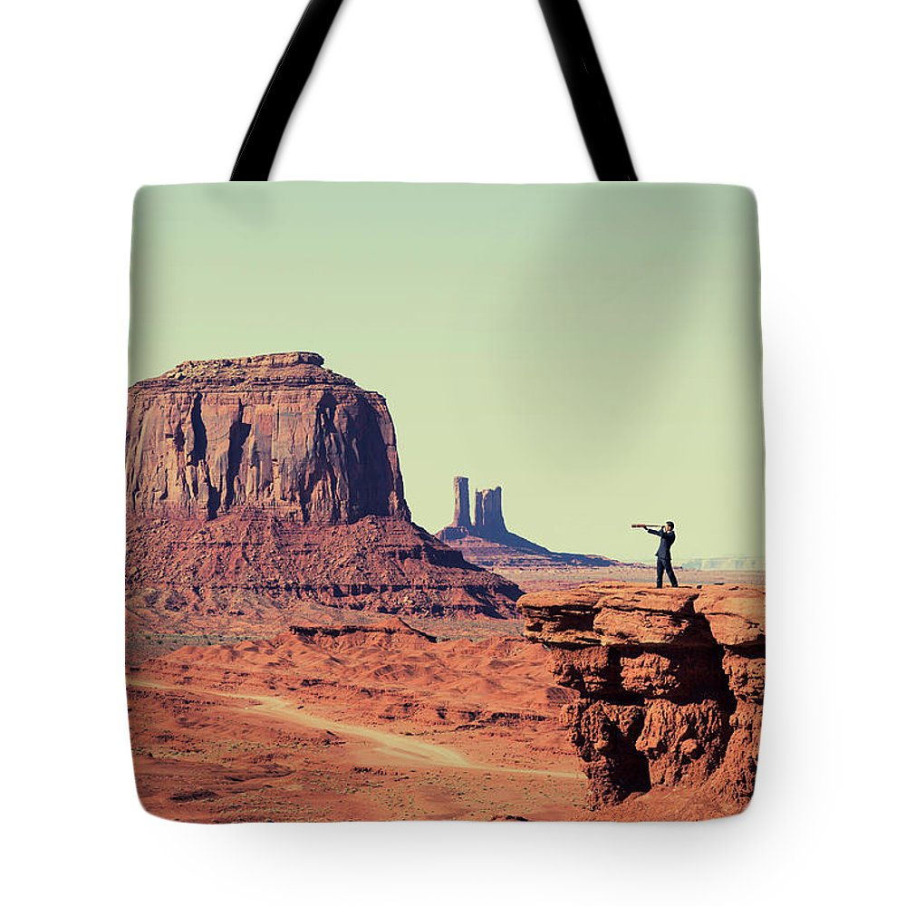 Corporate Business Tote Bag featuring the photograph Business Vision by Richvintage