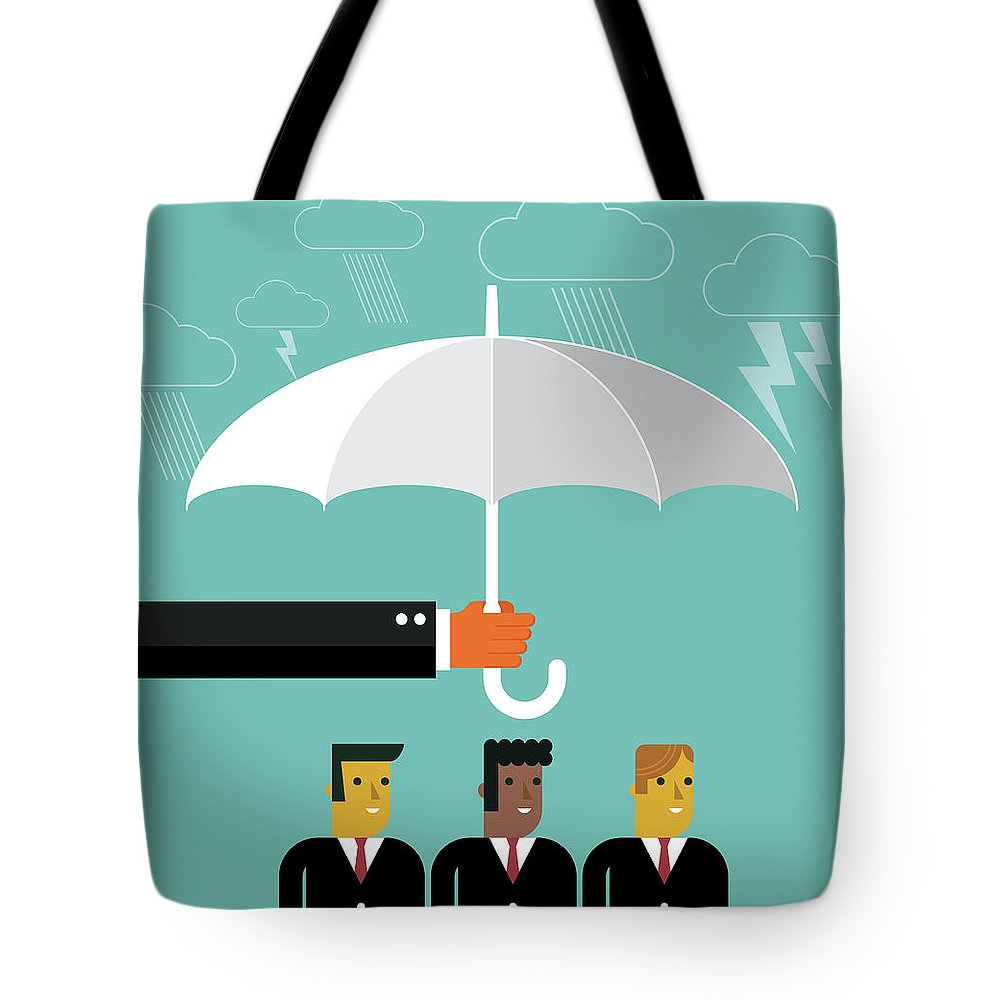 Problems Tote Bag featuring the digital art Businessmen Protection by Sorbetto
