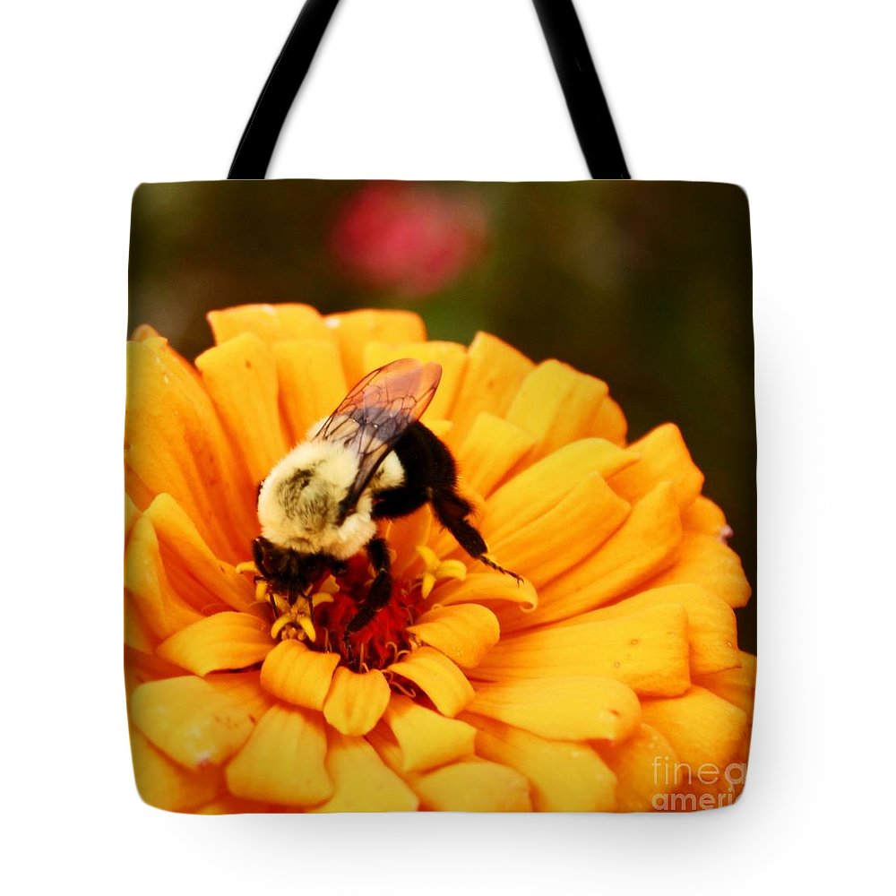 Bee Tote Bag featuring the photograph Busybee by Beth Ferris Sale