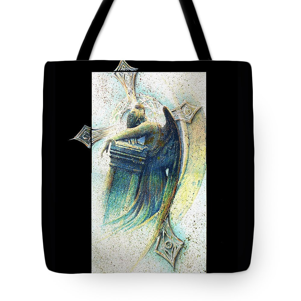 Angel Tote Bag featuring the painting But Once by Rocky Kelley