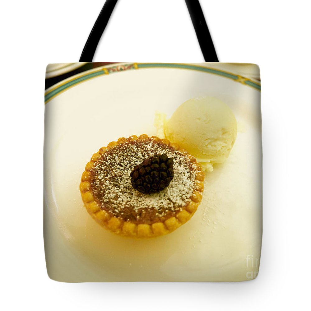 Butter Tote Bag featuring the photograph Butter Tart With Ice Cream by Louise Heusinkveld