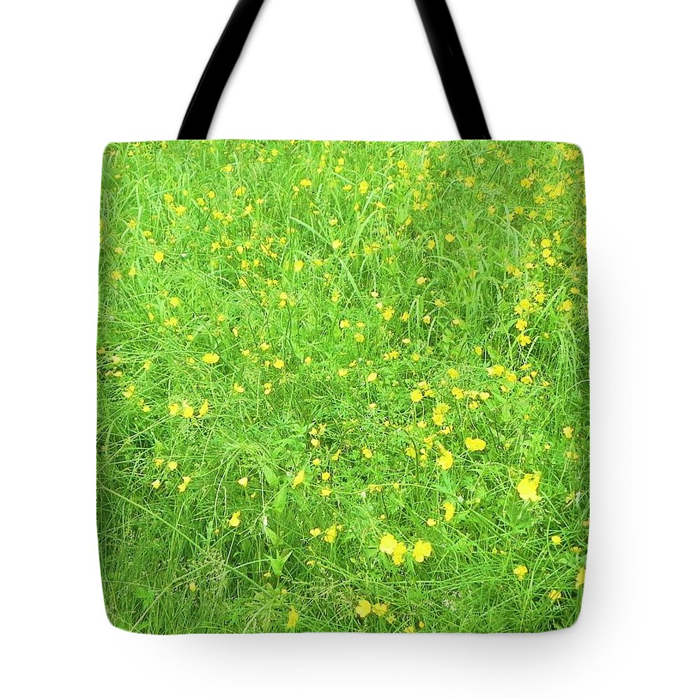 Buttercups Tote Bag featuring the photograph Buttercups by Juanita Albert