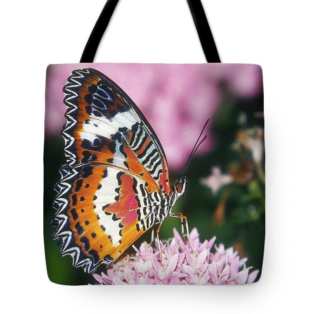 Butterfly Tote Bag featuring the photograph Butterfly 012 by Ingrid Smith-Johnsen
