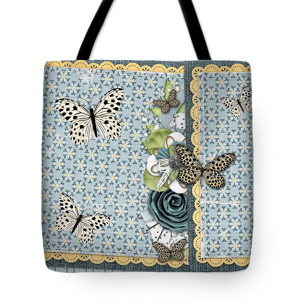 Butterflies Tote Bag featuring the digital art Butterfly Dreamland by Debra Miller