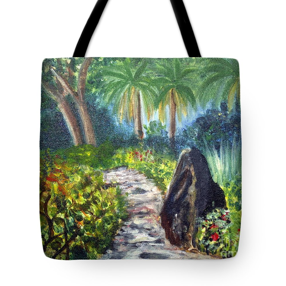 Art Tote Bag featuring the painting Butterfly Garden At Gumbo Limbo by Donna Walsh