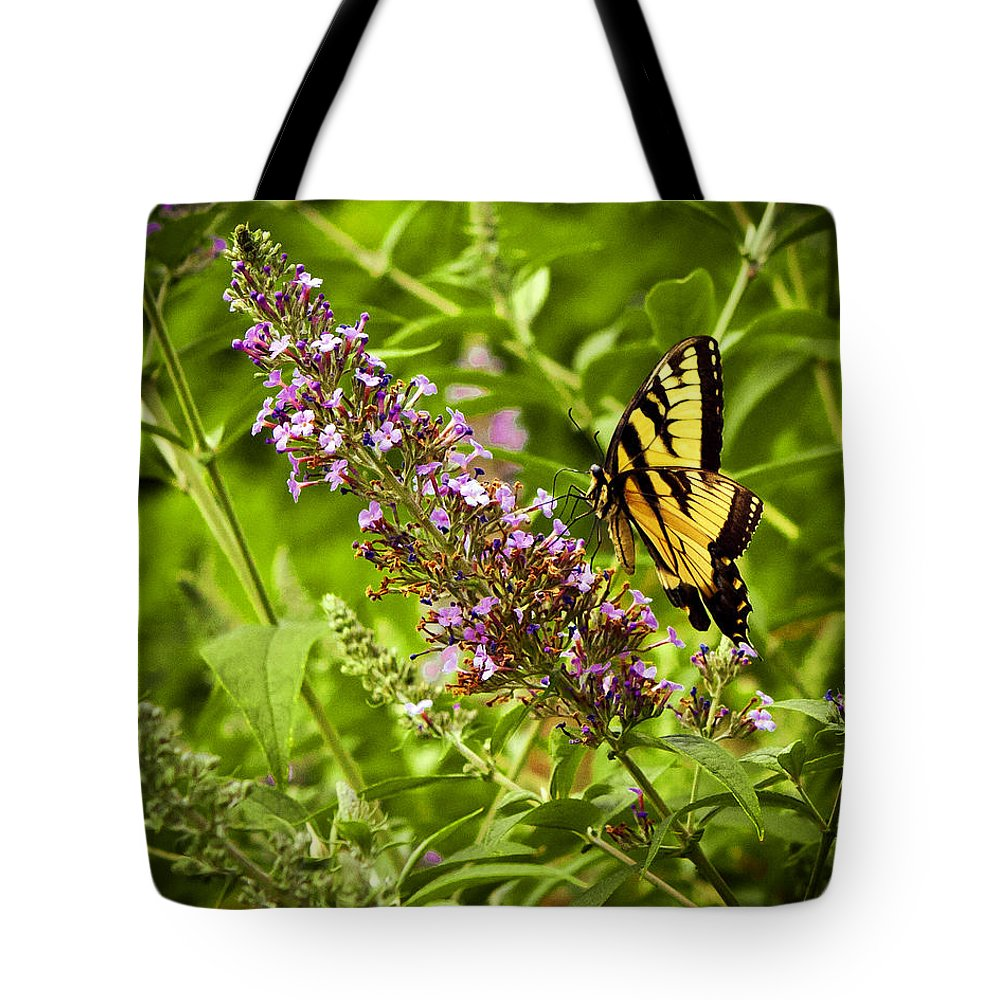Butterfly Tote Bag featuring the photograph Butterfly Garden by Sennie Pierson