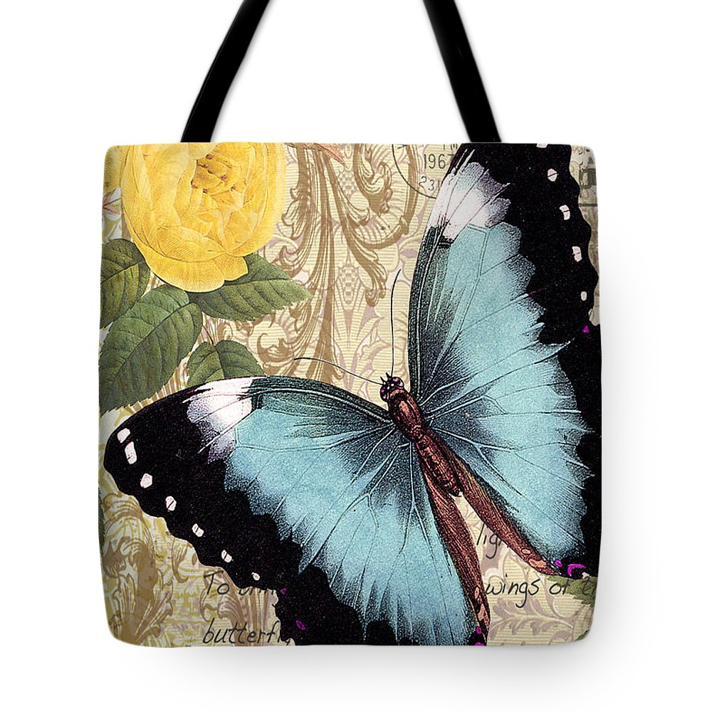 Butterfly Tote Bag featuring the digital art Butterfly Kisses-a by Jean Plout