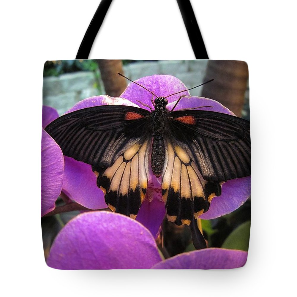 Butterfly Tote Bag featuring the digital art Butterfly Palace by Kelly Schutz