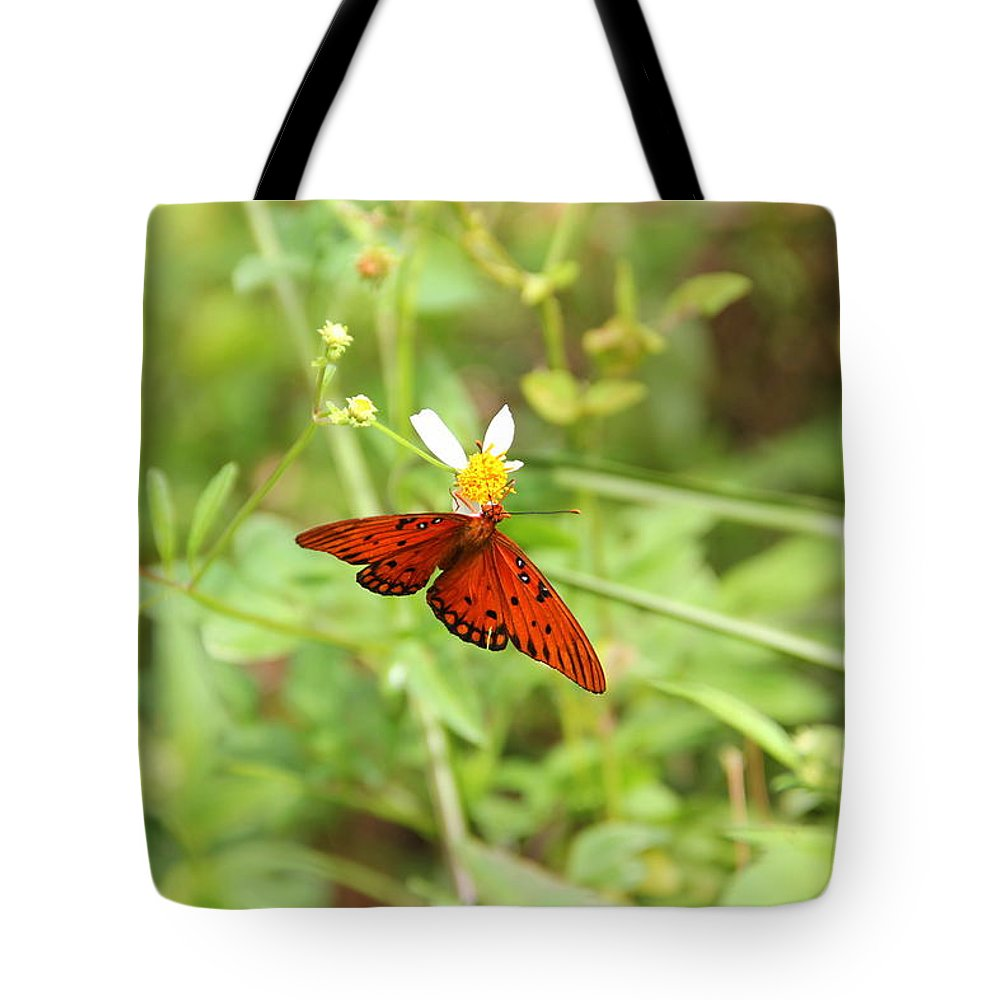 Nature Tote Bag featuring the photograph Butterfly Series 3 Of 5 by May Photography