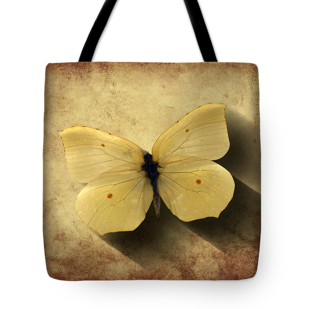 Butterfly Tote Bag featuring the digital art Butterfly 5 by Steve Ball