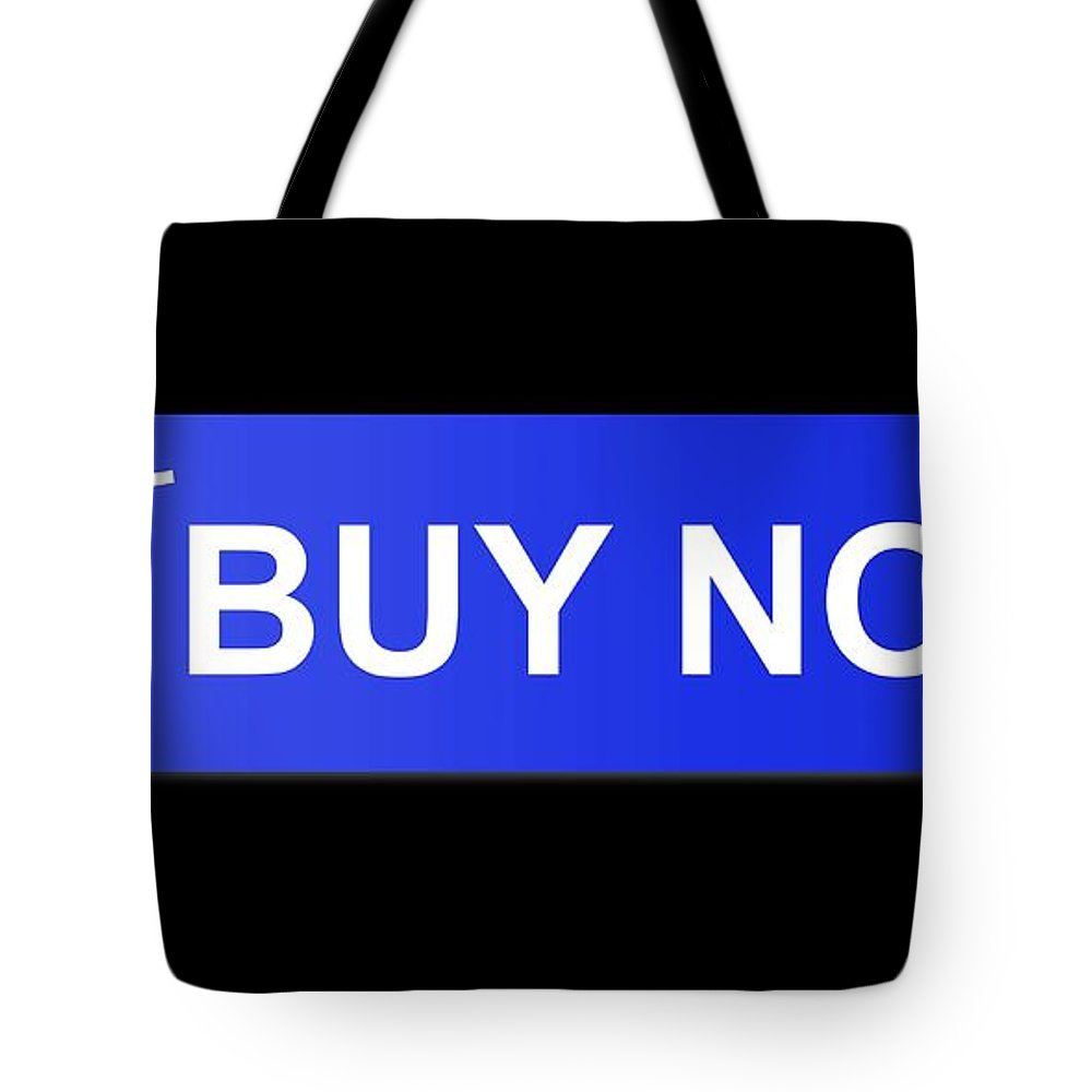 Blue Tote Bag featuring the digital art Buy Now Blue by Henrik Lehnerer