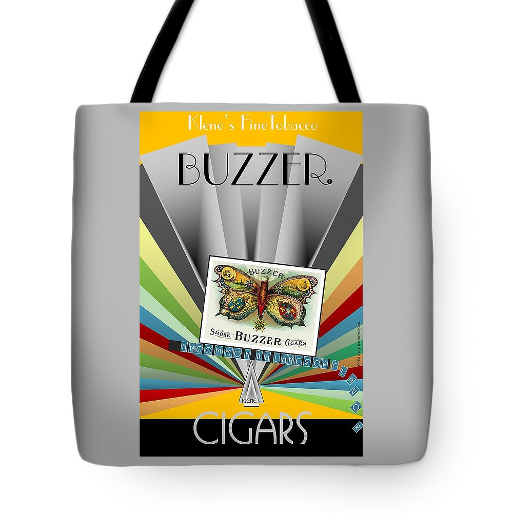 Have A Cigar Tote Bag featuring the digital art Buzzer by Steven Boland