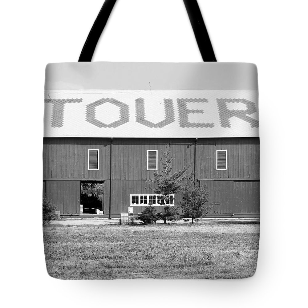 Horizontal Tote Bag featuring the photograph Bw Stovers Farm Market Berrien Springs Michigan Usa by Sally Rockefeller