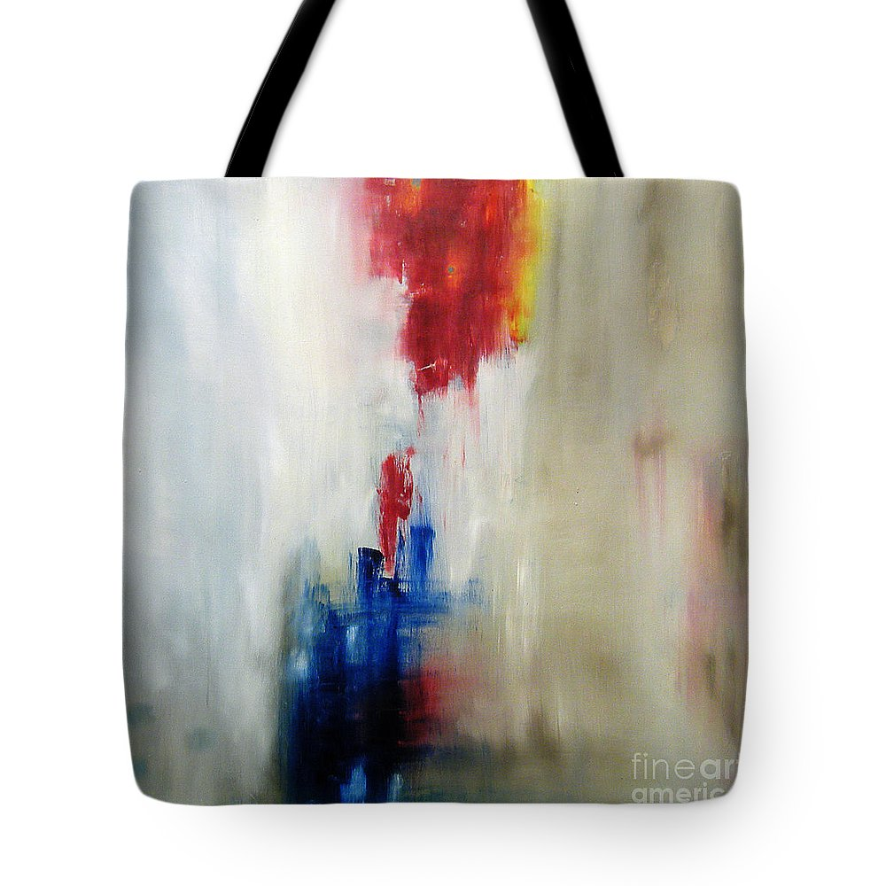 Abstract Painting Tote Bag featuring the painting C-15 by Jeff Barrett