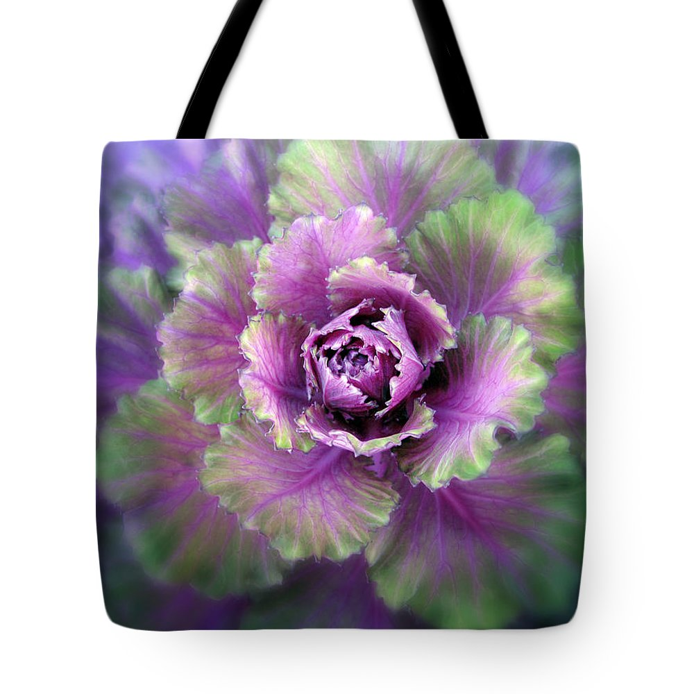 Detail Tote Bag featuring the photograph Cabbage Flower by Jessica Jenney