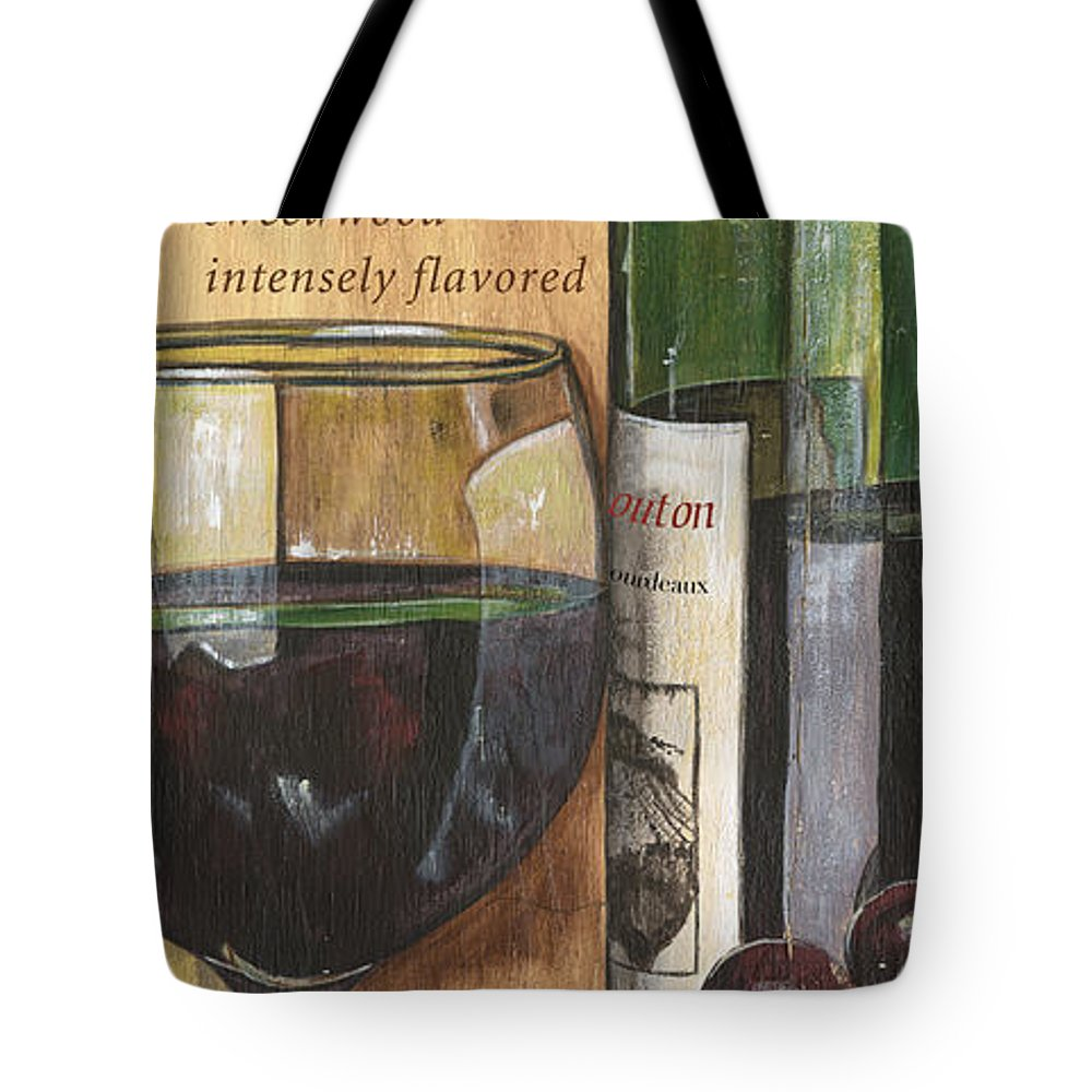Cabernet Tote Bag featuring the painting Cabernet Sauvignon by Debbie DeWitt