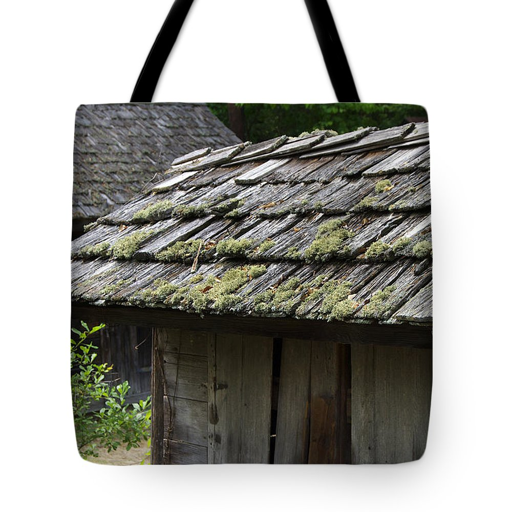 Scenic Tours Tote Bag featuring the photograph Cabin Community by Skip Willits