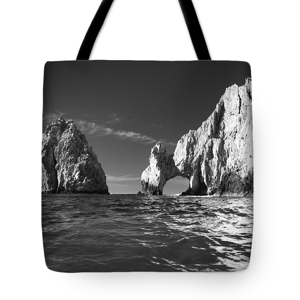 Los Cabos Tote Bag featuring the photograph Cabo In Black And White by Sebastian Musial