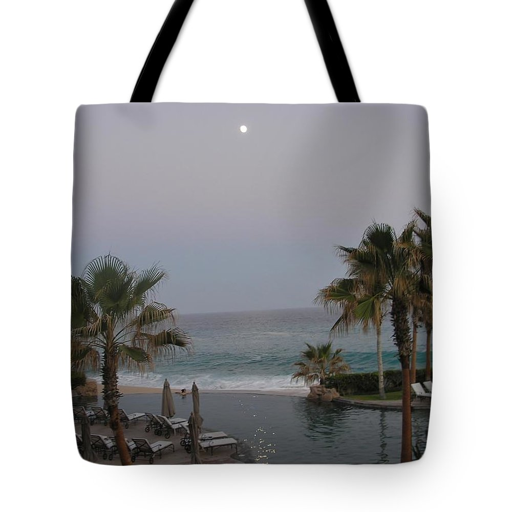Ocean Tote Bag featuring the photograph Cabo Moonlight by Susan Garren
