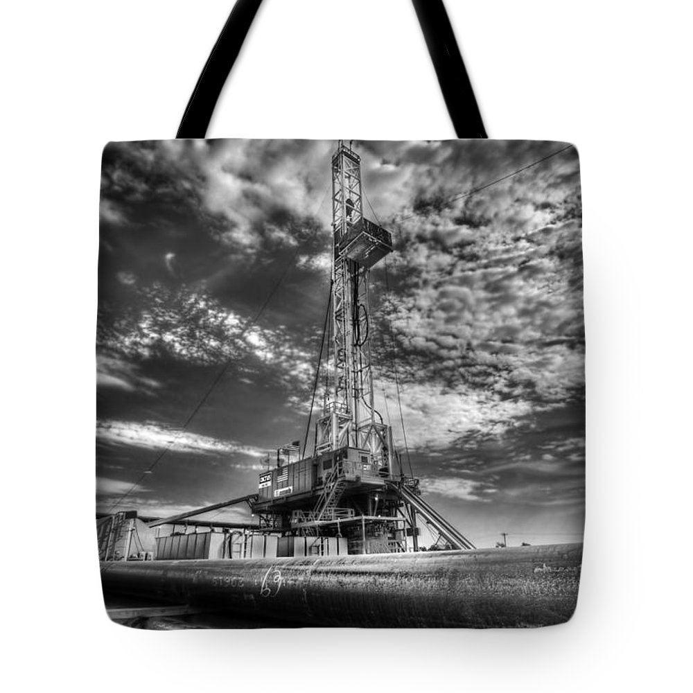 Oil Rig Tote Bag featuring the photograph Cac001-6 by Cooper Ross