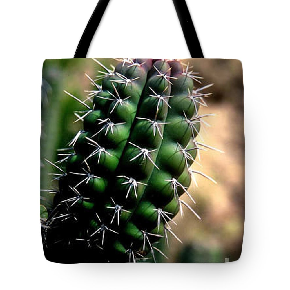 Sahuaro Tote Bag featuring the photograph Cactus Arm by Kathy McClure