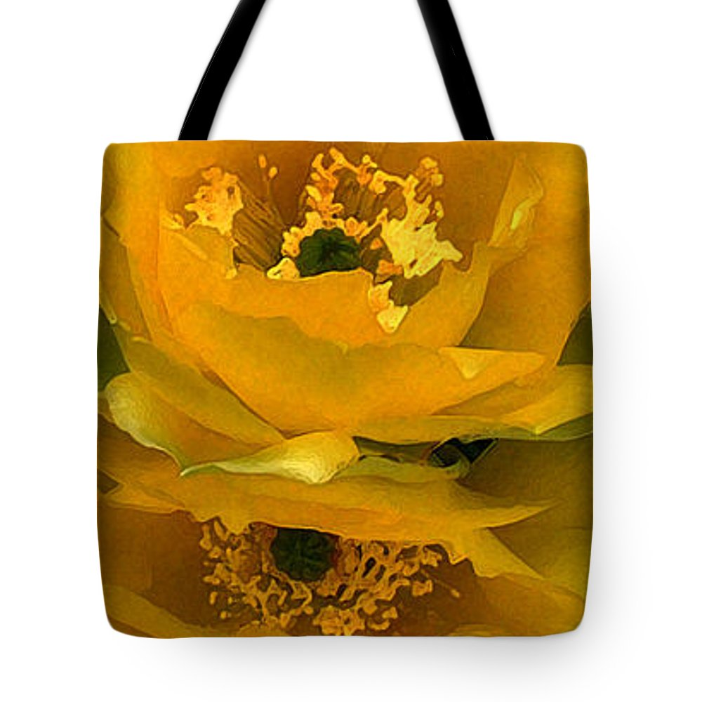 Cactus Tote Bag featuring the photograph Cactus Flower Song by CK Caldwell