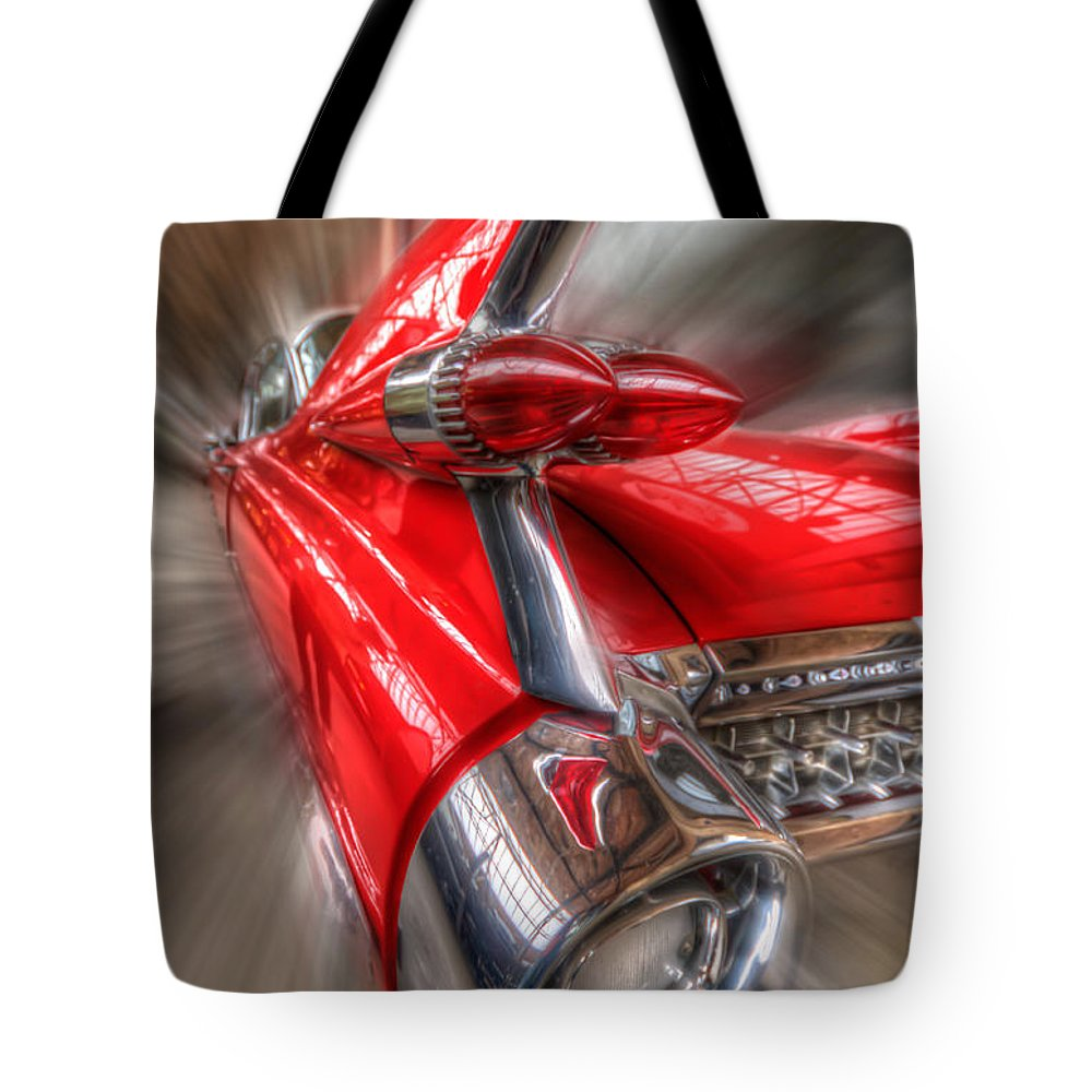 Retro Tote Bag featuring the digital art Caddy Corner by Nathan Wright