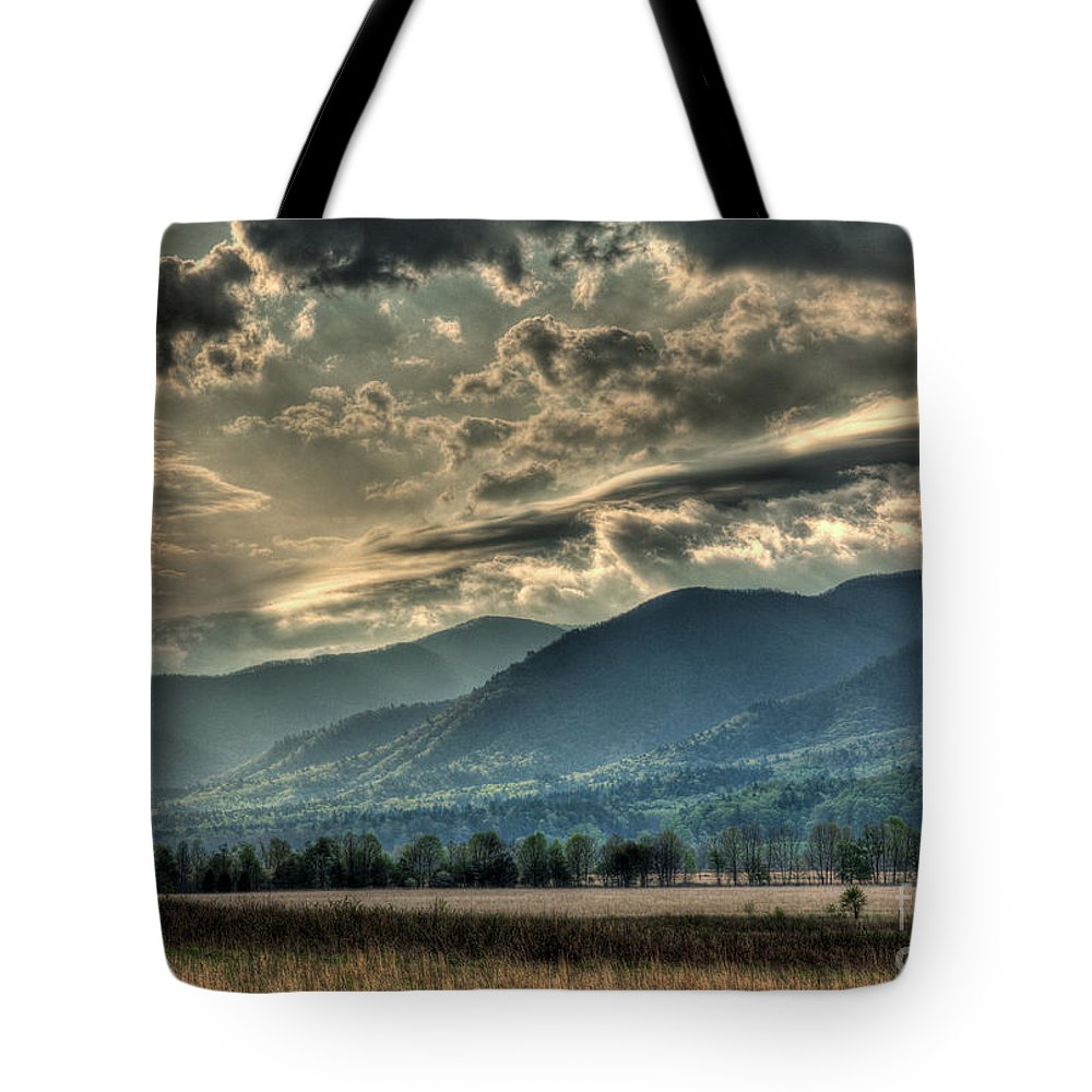 Tote Bag featuring the photograph Cades Cove Hdr Spring 2014 by Douglas Stucky