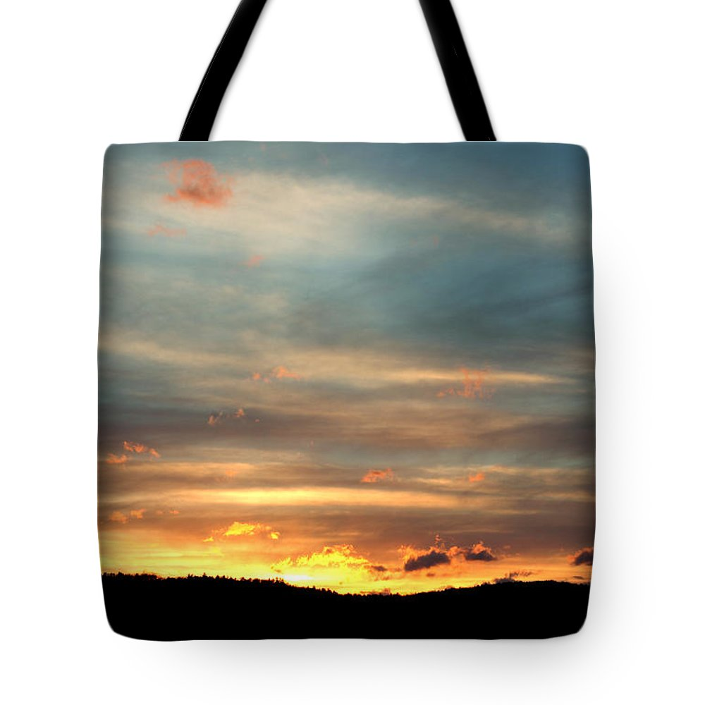 Tote Bag featuring the photograph Cades Cove Sunset by Douglas Stucky