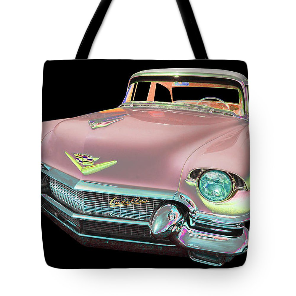 1956 Cadillac Tote Bag featuring the photograph Cadillac by Allan Price